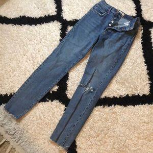 We the Free Cropped Distressed Denim